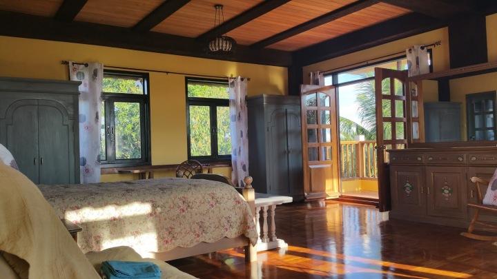 Unique woodwork master bedroom